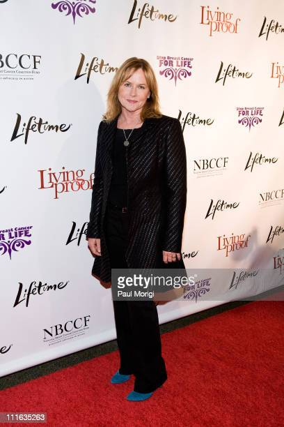 Actress Amy Madigan attends the Lifetime and NBCC screening of the Lifetime Original Movie Living Proof at the Historical Society of Washington DC...