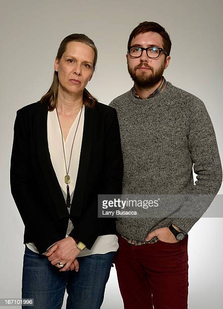 Actress Amy Morton and director Lance Edmands of the film 'Bluebird' pose at the Tribeca Film Festival 2013 portrait studio on April 20 2013 in New...