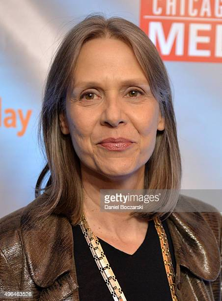 Actress Amy Morton attends a premiere party for NBC's 'Chicago Fire' 'Chicago PD' and 'Chicago Med' at STK Chicago on November 9 2015 in Chicago...