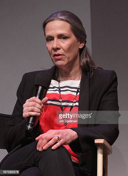 Actress Amy Morton attends Meet the Filmmaker 'Bluebird' during the 2013 Tribeca Film Festival at the Apple Store Soho on April 19 2013 in New York...