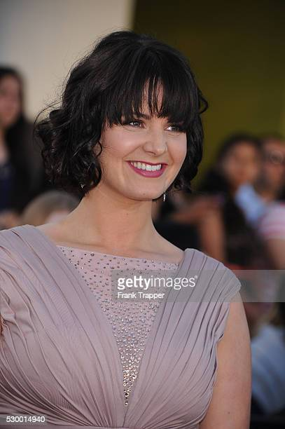 Actress Amy Newbold arrives at the premiere of 'Divergent' held at The Regency Bruin Theater in Westwood