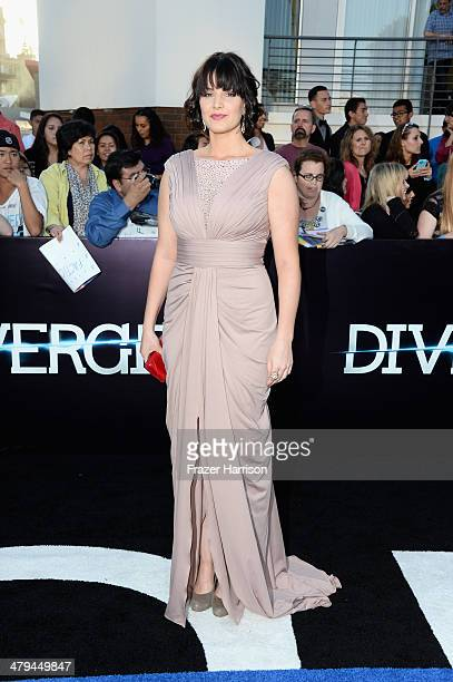 Actress Amy Newbold arrives at the premiere of Summit Entertainment's 'Divergent' at the Regency Bruin Theatre on March 18 2014 in Los Angeles...