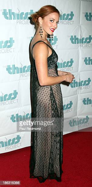 Actress Amy Paffrath arrives at The Thirst Project Annual Masquerade Dinner on October 29 2013 in Glendale California