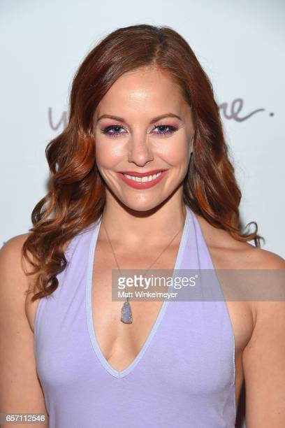 Actress Amy Paffrath attends Funimation Films presents 'Your Name' Theatrical Premiere in Los Angeles CA at Yamashiro Hollywood on March 23 2017 in...