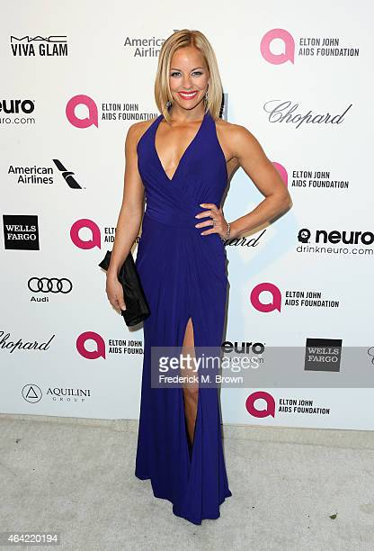 Actress Amy Paffrath attends the 23rd Annual Elton John AIDS Foundation's Oscar Viewing Party on February 22 2015 in West Hollywood California