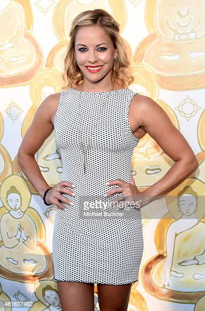 Actress Amy Paffrath attends the Wanderlust Hollywood Grand Opening on July 22 2015 in Los Angeles California