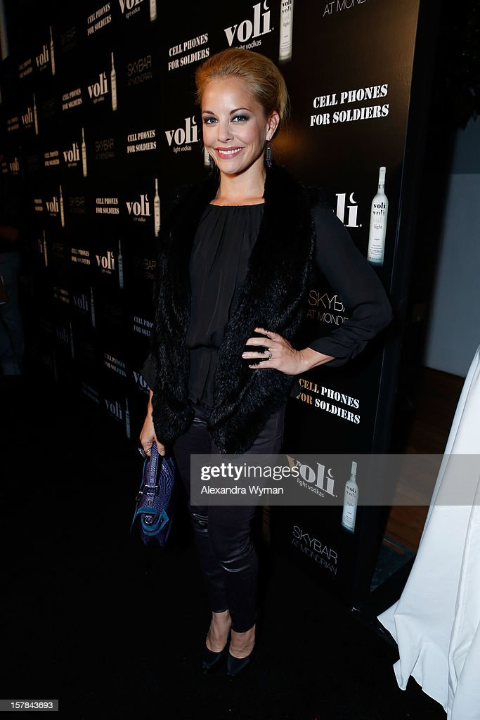 Actress Amy Paffrath attends Voli Light Vodka's Holiday Party hosted by Fergie Benefiting Cellphones for Soldiers at SkyBar at the Mondrian Los Angeles on December 6, 2012 in West Hollywood, California.
