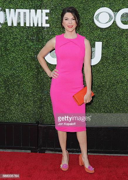 Actress Amy Pietz arrives at CBS CW Showtime Summer TCA Party at Pacific Design Center on August 10 2016 in West Hollywood California
