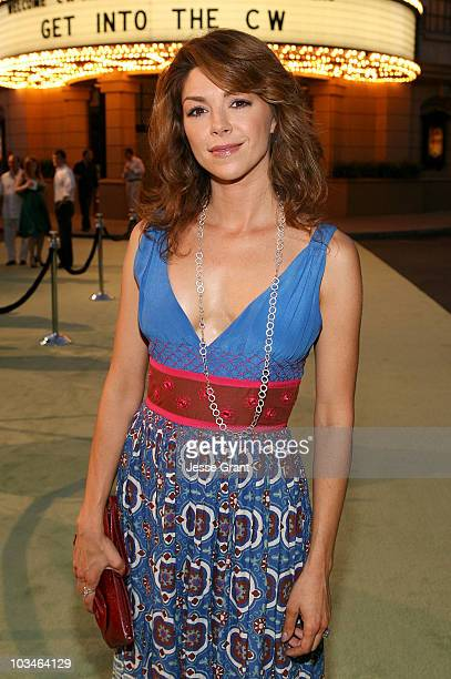 Actress Amy Pietz arrives at the CW Network's Affiliate Party at the Warner Bros Studio Lot on August 27 2007 in Burbank Califirnia