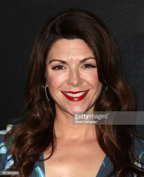 Actress Amy Pietz attends a screening of ATT Audience Network's 'Mr Mercedes' at The Beverly Hilton Hotel on July 25 2017 in Beverly Hills California