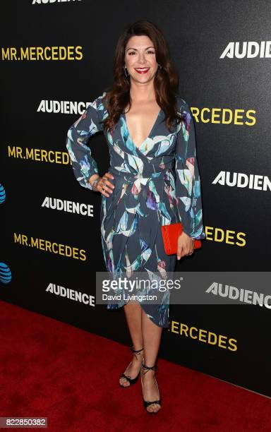 Actress Amy Pietz attends a screening of ATT Audience Network's Mr Mercedes at The Beverly Hilton Hotel on July 25 2017 in Beverly Hills California