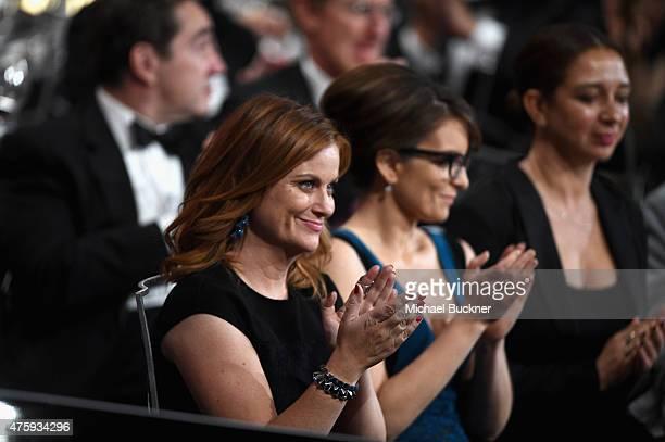 Actress Amy Poehler actress Tina Fey and actress Maya Rudolph attend the 2015 AFI Life Achievement Award Gala Tribute Honoring Steve Martin at the...