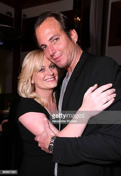 Actress Amy Poehler and actor Ed Helms attend the premiere of NBC's Parks Recreation hosted by Kahlua held at My House on April 9 2009 in Los Angeles...