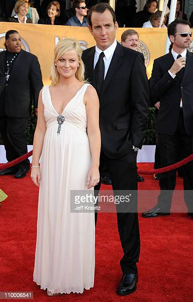 Actress Amy Poehler and actor Will Arnett arrives at the 15th Annual Screen Actors Guild Awards held at the Shrine Auditorium on January 25 2009 in...