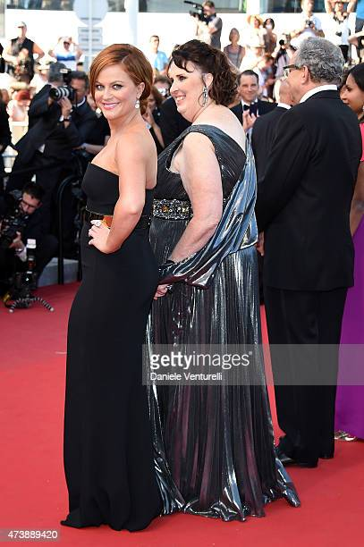 """Actress Amy Poehler and Actress Phyllis Smith attend the """"Inside Out"""" Premiere during the 68th annual Cannes Film Festival on May 18, 2015 in Cannes,..."""