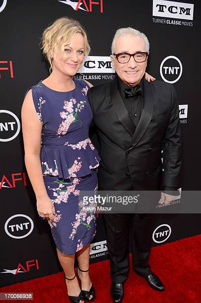 Actress Amy Poehler and director Martin Scorsese attend AFI's 41st Life Achievement Award Tribute to Mel Brooks at Dolby Theatre on June 6, 2013 in...