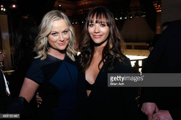 Actress' Amy Poehler and Rashida Jones attend the IFP's 23nd Annual Gotham Independent Film Awards at Cipriani Wall Street on December 2 2013 in New...