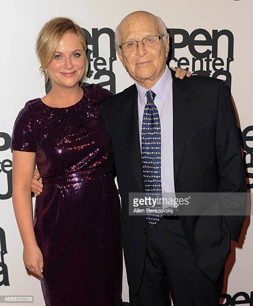 Actress Amy Poehler and writer Norman Lear attend Pen Center USA's 24th Annual Literary Awards Festival at the Beverly Wilshire Four Seasons Hotel on...