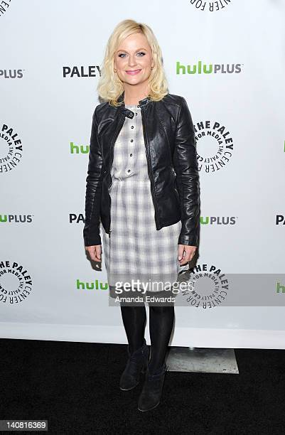 Actress Amy Poehler arrives at PaleyFest 2012 Presents 'Parks And Recreation' at the Saban Theatre on March 6 2012 in Beverly Hills California