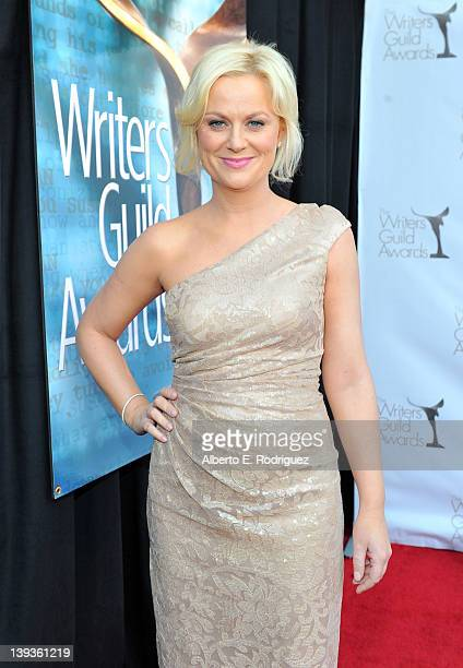 Actress Amy Poehler arrives at the 2012 Writers Guild Awards at the Hollywood Palladium on February 19 2012 in Los Angeles California