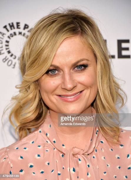 Actress Amy Poehler arrives at the 2014 PaleyFest 'Parks And Recreation' event at The Dolby Theatre on March 18 2014 in Hollywood California