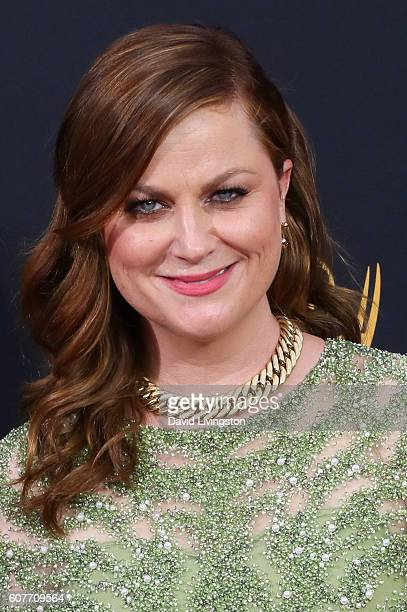 Actress Amy Poehler arrives at the 68th Annual Primetime Emmy Awards at the Microsoft Theater on September 18 2016 in Los Angeles California