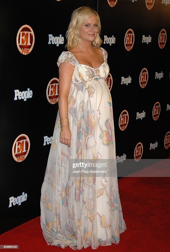 Actress Amy Poehler arrives at the Entertainement Tonight Emmy party held at the Walt Disney Concert Hall on September 21, 2008 in Los Angeles, California.
