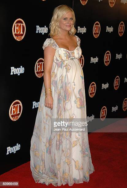 Actress Amy Poehler arrives at the Entertainement Tonight Emmy party held at the Walt Disney Concert Hall on September 21, 2008 in Los Angeles,...