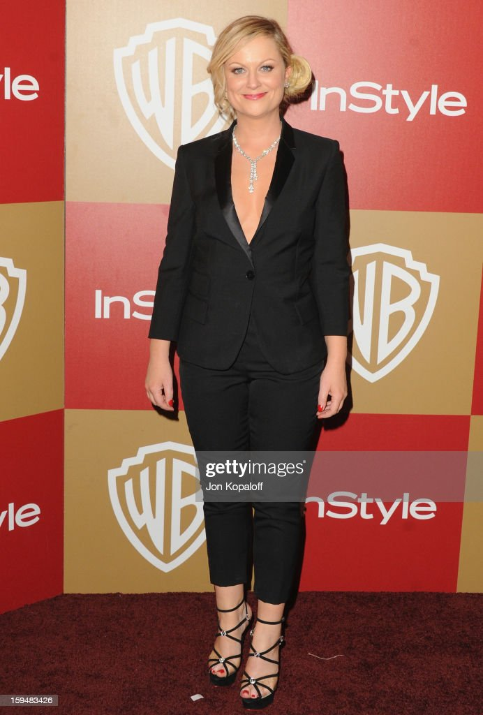 Actress Amy Poehler arrives at the InStyle And Warner Bros. Golden Globe Party at The Beverly Hilton Hotel on January 13, 2013 in Beverly Hills, California.