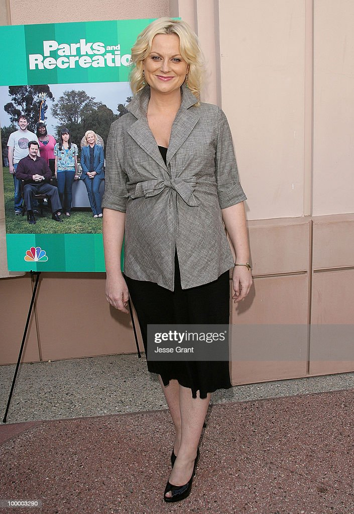 Actress Amy Poehler arrives at the 'Parks And Recreation' Emmy Screening at the Leonard H. Goldenson Theatre on May 19, 2010 in Los Angeles, California.