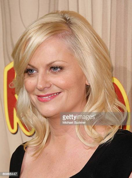 Actress Amy Poehler arrives at the premiere of NBC's Parks Recreation at My House on April 9 2009 in Los Angeles California