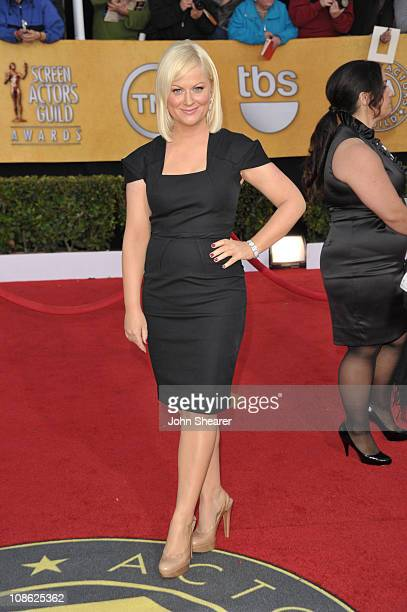Actress Amy Poehler arrives at the TNT/TBS broadcast of the 17th Annual Screen Actors Guild Awards held at The Shrine Auditorium on January 30 2011...