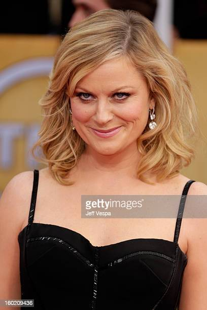 Actress Amy Poehler arrives at the19th Annual Screen Actors Guild Awards held at The Shrine Auditorium on January 27, 2013 in Los Angeles, California.