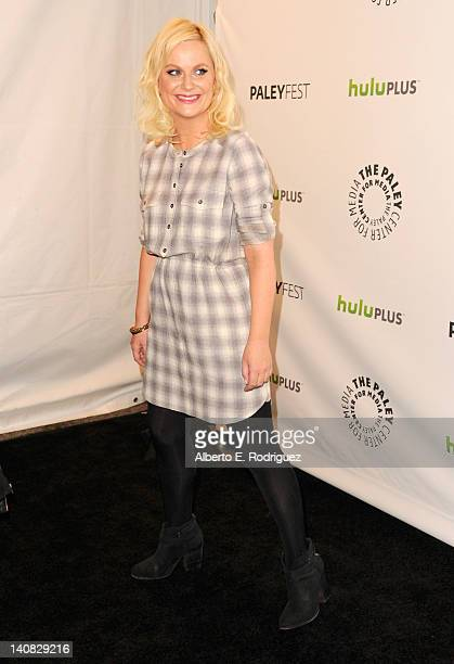 Actress Amy Poehler arrives to The Paley Center for Media's PaleyFest Honoring 'Parks and Recreation' at Saban Theatre on March 6 2012 in Beverly...