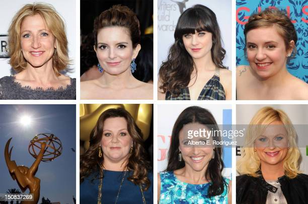 In this composite image a comparison has been made between the 2012 Emmy nominees for Outstanding Lead Actress In A Comedy Series BEVERLY HILLS CA...