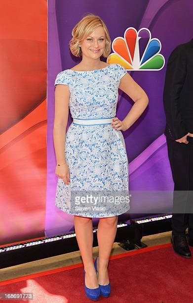 Actress Amy Poehler attends 2013 NBC Upfront Presentation Red Carpet Event at Radio City Music Hall on May 13 2013 in New York City