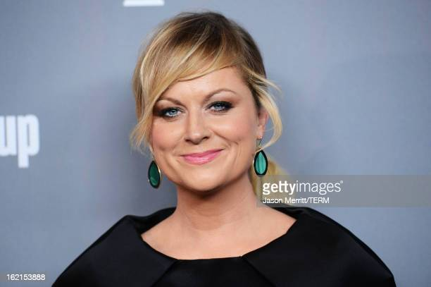 Actress Amy Poehler attends the 15th Annual Costume Designers Guild Awards with presenting sponsor Lacoste at The Beverly Hilton Hotel on February 19...