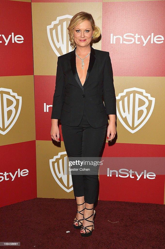 Actress Amy Poehler attends the 2013 InStyle and Warner Bros. 70th Annual Golden Globe Awards Post-Party held at the Oasis Courtyard in The Beverly Hilton Hotel on January 13, 2013 in Beverly Hills, California.