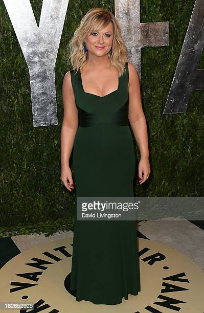 Actress Amy Poehler attends the 2013 Vanity Fair Oscar Party at the Sunset Tower Hotel on February 24 2013 in West Hollywood California