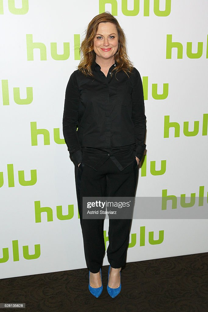 Actress Amy Poehler attends the 2016 Hulu Upftont on May 04, 2016 in New York, New York.