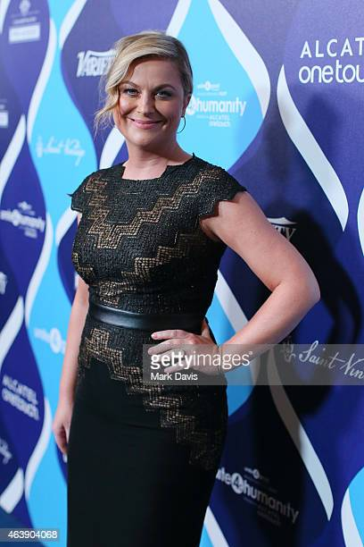 Actress Amy Poehler attends the 2nd Annual unite4humanity presented by ALCATEL ONETOUCH at the Beverly Hilton Hotel on February 19 2015 in Los...