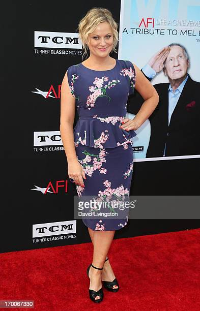 Actress Amy Poehler attends the 41st AFI Life Achievement Award honoring Mel Brooks at Dolby Theatre on June 6 2013 in Hollywood California