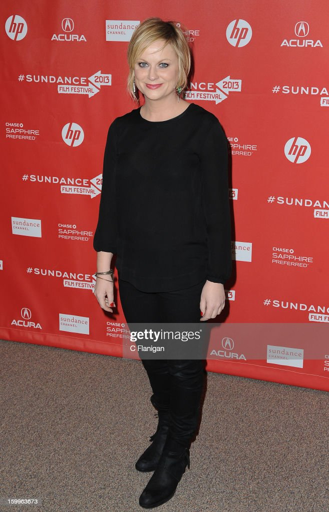 Actress Amy Poehler attends the 'A.C.O.D.' Premiere during the 2013 Sundance Film Festival at Eccles Center Theatre on January 23, 2013 in Park City, Utah.
