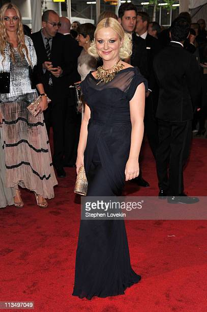 Actress Amy Poehler attends the Alexander McQueen Savage Beauty Costume Institute Gala at The Metropolitan Museum of Art on May 2 2011 in New York...