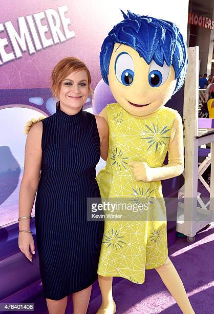 Actress Amy Poehler attends the Los Angeles premiere of DisneyPixar's Inside Out at the El Capitan Theatre on June 8 2015 in Hollywood California