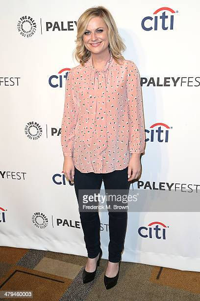 Actress Amy Poehler attends The Paley Center for Media's PaleyFest 2014 Honoring 'Parks and Recreation' at the Dolby Theatre on March 18 2014 in...
