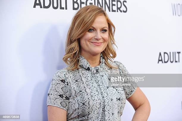 """Actress Amy Poehler attends the premiere of """"Adult Beginners"""" at ArcLight Hollywood on April 15, 2015 in Hollywood, California."""