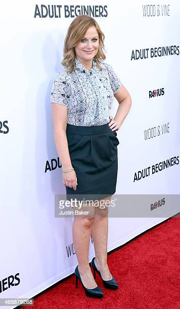 Actress Amy Poehler attends the premiere of RADiUS' 'Adult Beginners' at ArcLight Hollywood on April 15 2015 in Hollywood California