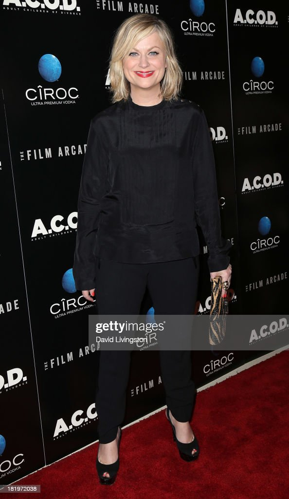 Actress Amy Poehler attends the premiere of the Film Arcade's 'A.C.O.D.' at the Landmark Theater on September 26, 2013 in Los Angeles, California.