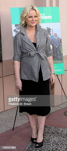 Actress Amy Poehler attends the screening of Parks and Recreation at the Leonard H Goldenson Theatre on May 19 2010 in North Hollywood California